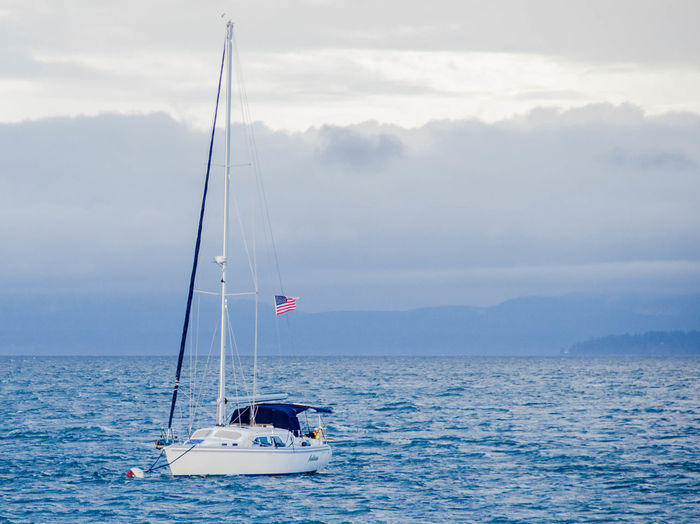 A day on the Water. Beauty In Nature Cloud - Sky Day Horizon Over Water Nature Nautical Vessel No People Outdoors Scenics Sea Sky Tranquil Scene Tranquility Transportation Water Waterfront
