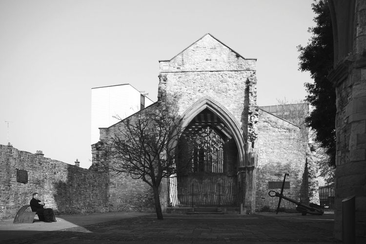 Hollyrood Church Southampton Architecture Memorial Place Travel Destinations Built Structure Outdoors People City One Man Only Adults Only EyeEmNewHere Architecture_bw Architecture_collection Black And White Bnwphotography Bnw Photography Bnw_collection The Week On EyeEm Black And White Collection  Black & White Blackandwhite Travel Photography History Religion Black And White Friday An Eye For Travel