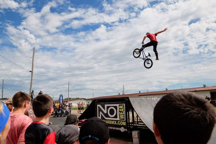 Nowear BMX Team Nebraska State Fair September 1, 2018 Grand Island, Nebraska Camera Work Check This Out EyeEm Best Shots FUJIFILM X-T1 Fujinon 10-24mm F4 Getty Images Grand Island, Nebraska Nebraska State Fair NowearBMX Photojournalism Action Action Shot  Bicycle Bmx  Bmx Cycling Cloud - Sky Day Events Extreme Sports Eye For Photography Freestyle Group Of People Jumping Leisure Activity Lifestyles Men Mid-air Motion Nature Outdoors People Real People RISK S.ramos September 2018 Series Sign Skill  Sky Sport Stunt Transportation