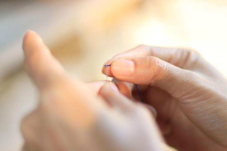 Closeup finger