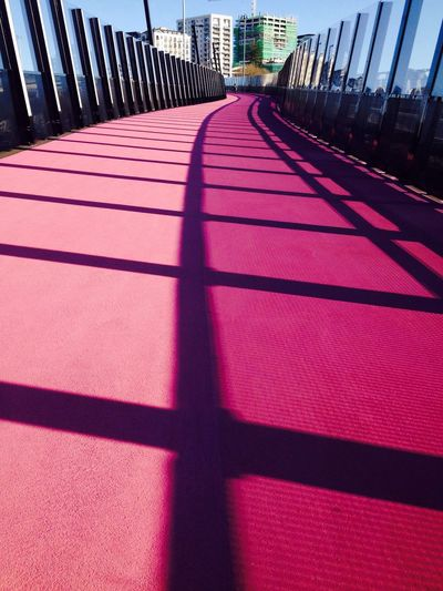 Pink Pathway Cycleway Auckland City