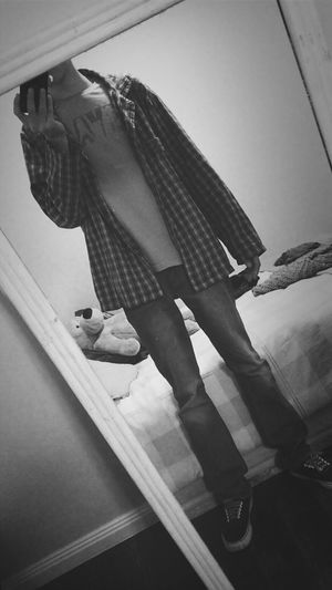 flannel cause I can Flannel Checkered Mono Photo Blackandwhite