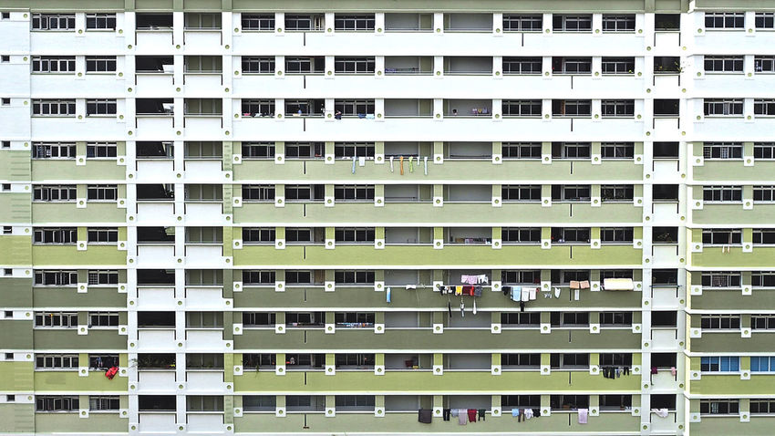 Architecture Building Building Exterior Green HDB HDB Flats Residential  Shades Of Green  Singapore Singapore Building Singapore Housing