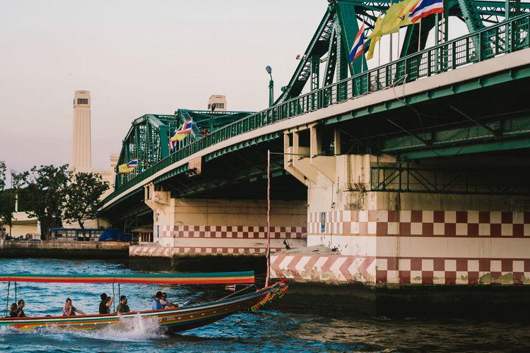 ASIA Bangkok Bangkok City Boat Bridge Ferry Oldtown Speedboat Transportation Spotted In Thailand