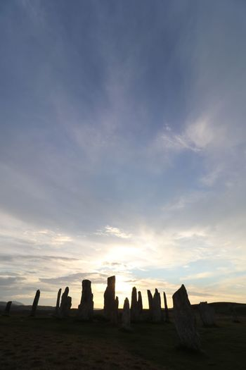 Callanish Sunset Scotland History Callanish Stones VisitScotland Outer Hebrides Isle Of Lewis Sunset #sun #clouds #skylovers #sky #nature #beautifulinnature #naturalbeauty #photography #landscape Scotland Sky Cloud - Sky Nature Sunset Beauty In Nature Silhouette Scenics - Nature Tranquility Tranquil Scene Land Landscape Travel Destinations Architecture No People Non-urban Scene Travel Outdoors Solid Built Structure