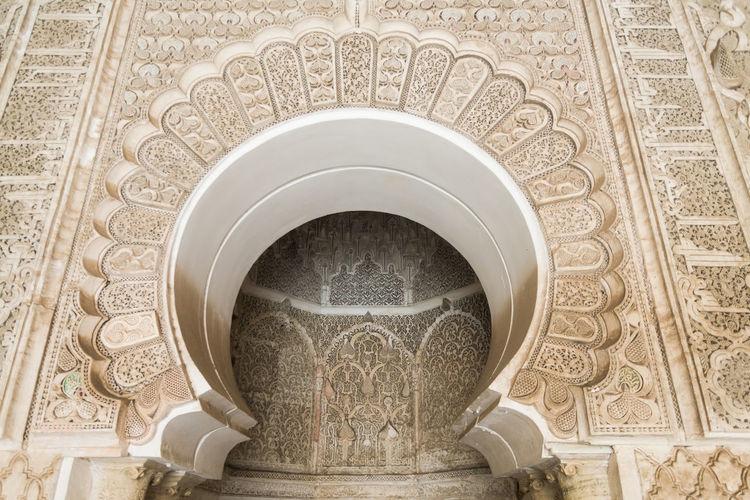 Full frame shot of ornate ceiling in building
