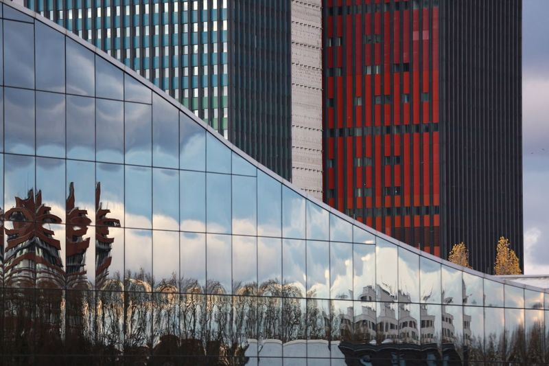 Reflection Architecture Built Structure Building Exterior Reflection City Skyscraper No People Modern The Graphic City