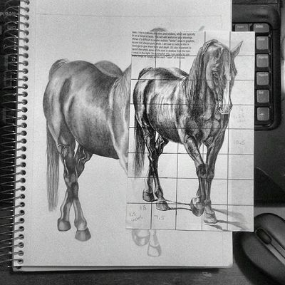 Almost done. W .I.P. Horses Sketch Drawing graphite pencil Art artist artwork