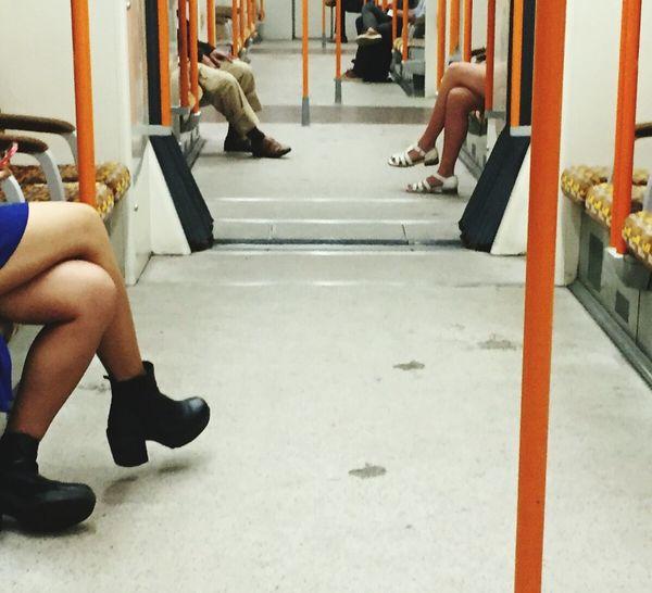 Overground Tfl Human Leg Two People Sitting Train commute Legs Legs Legs eyeemnewhere EyeEmNewHere EyeEm Best Shots