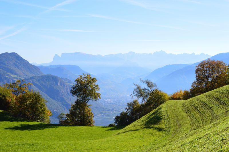 Beauty In Nature Mountain Mountain Range Tranquil Scene Scenics Nature Tranquility Landscape Idyllic No People Day Tree Grass Sky Outdoors EyeEmNewHere Alto Adige South Tyrol Südtirol Italy Italien Italia
