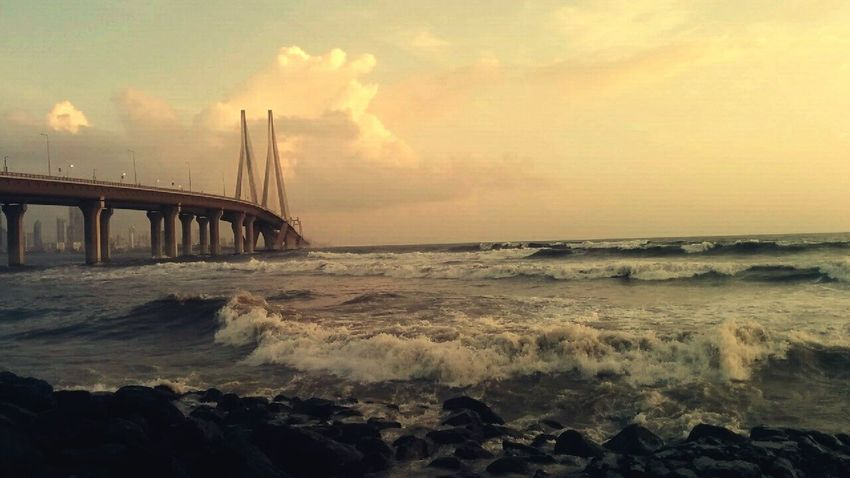 Hightide Sealink_bridge Sunset Nature Lovely Weather Waterlove OceanCity Carefree Peace Landscape Urban Skyline