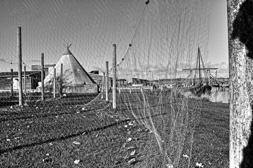 fishing nets Beach Black & White Black And White Blackandwhite Day Drying Fishing Net Drying Net Drying Nets Fishing Net Fishing Nets Nature Net Nets Nets Camp Nets Field No People Outdoors Sky