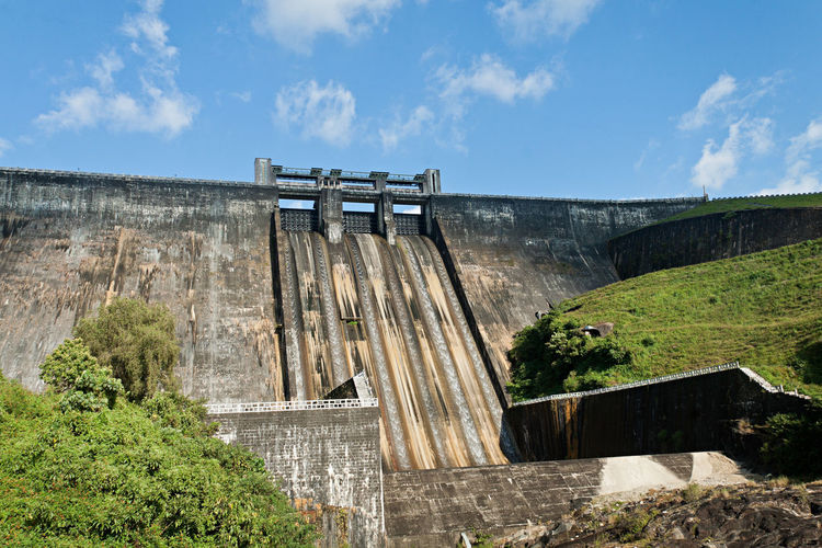 Sholayar Dam, Valparai, India Agriculture Built Structure Canal Dam Day Energy India Irrigation Kerala Landscape Nature No People Power Project River Scenery Sholayar Structure Tamil Nadu Tourism Travel Travel Destinations Valparai Water