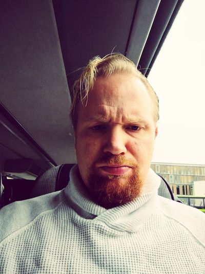 Selfie on bus Beard Blond Hair Lillestrøm Norway EyeEm Selects Portrait Headshot Looking At Camera Front View Close-up Car Interior One Mid Adult Man Only Vehicle Interior Receding Hairline