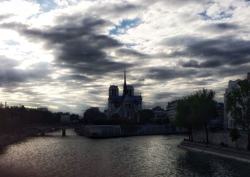 Tourist Destination Notre Dame De Paris Daylight Outside