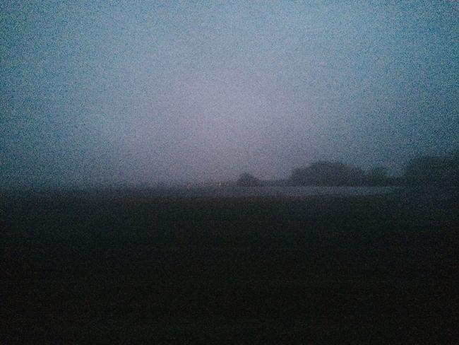 Misty Mist Landscape Blue Roadtrip Twilight
