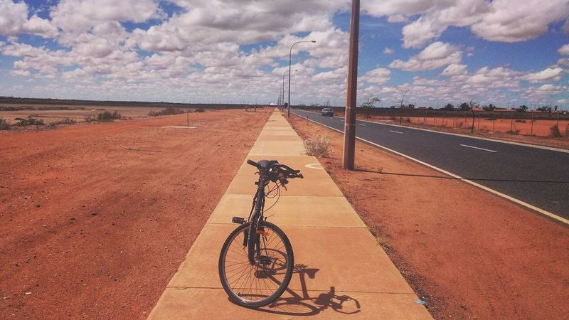 Australia Brown Background Cool Fun Road Australia & Travel Bicycle Biker Bmx Cycling Brown Color Bush Cloud - Sky Cycling Day Mode Of Transport Nice Nice Photo Outdoors People Racing Bicycle Riding Road Shapes And Forms Sports Track Transportation