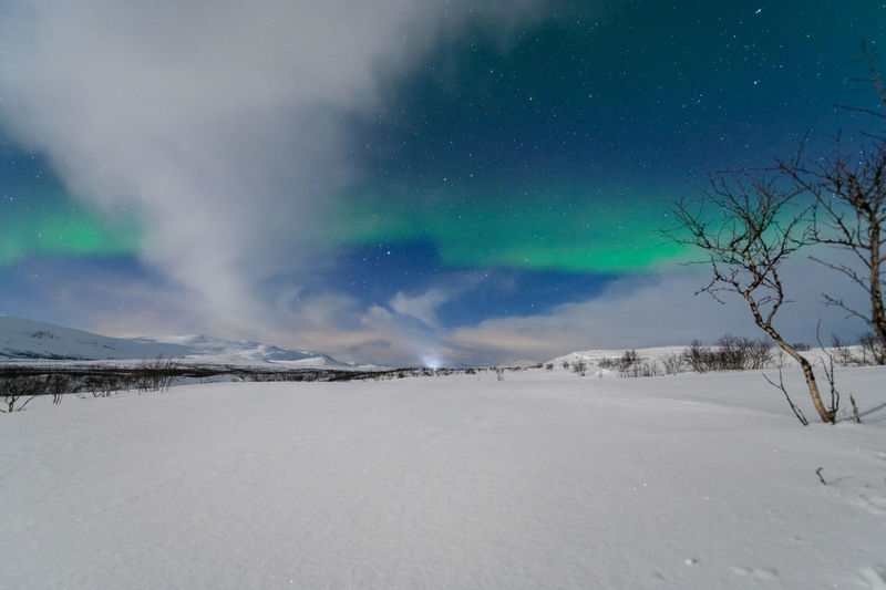 Northern lights from north tromso and close to the border with finland