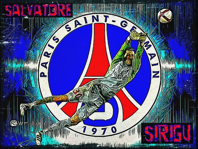 Salvatore Sirigu Sports Art Being Creative Paris Saint Germain