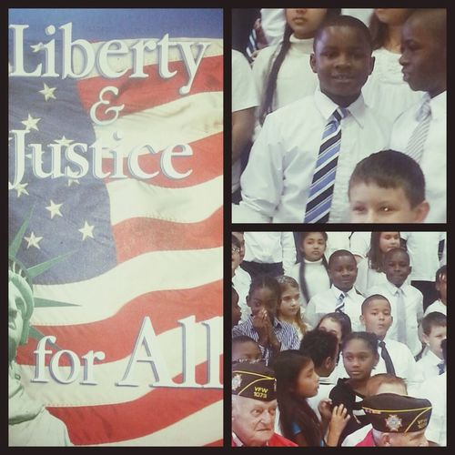 Huey and his classmates singing to the Veterans at his school ... Go kid! School Life  Proudfather  Myson Morningflow