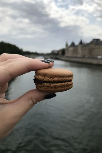 Chocolate macaroon in paris