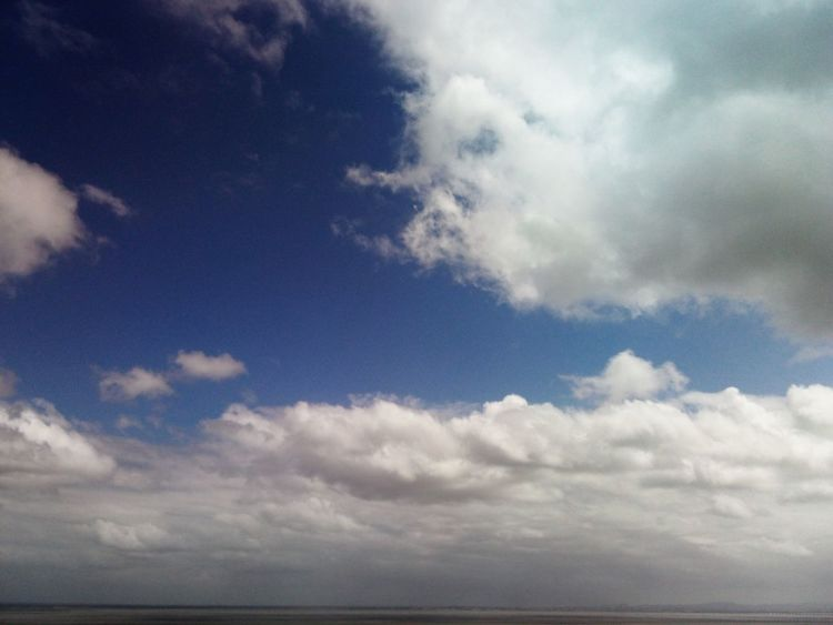 Cloudy day... Cloud - Sky Dramatic Sky Nature Blue Tranquility Sky Beauty In Nature Cloudy