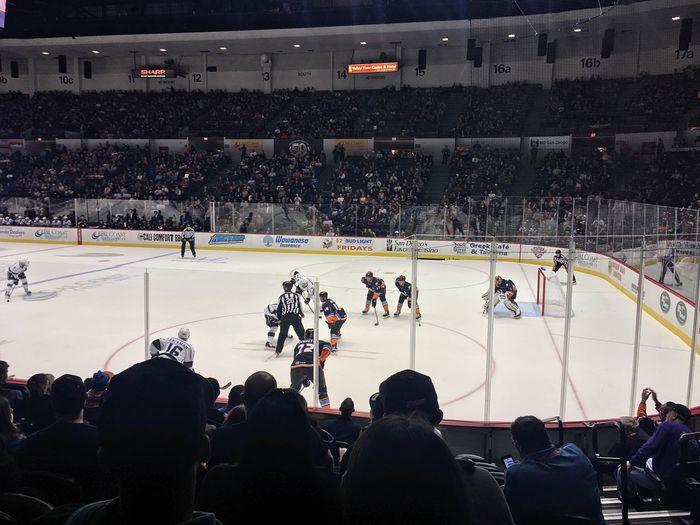 Hockey night in San Diego. San Diego Gulls