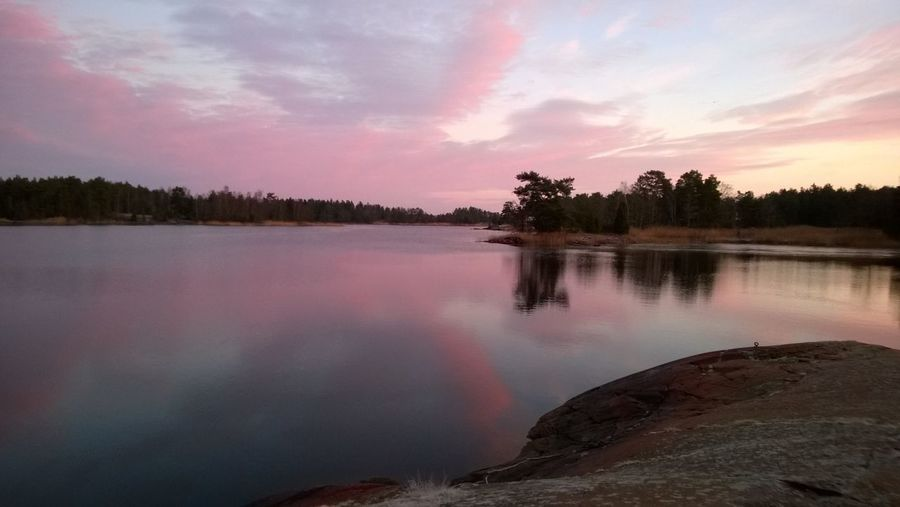 Småland Water Reflections Sverige No Filters  Nice Sunday morning at my lovely fishing place.