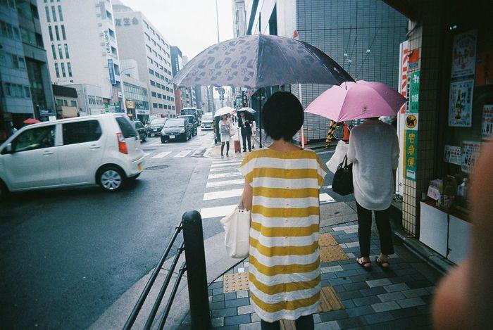 Japan 日本 People Photography Japan Photography People Streetphotography Film 35mm 35mm Film Kyoto Rainy Days Umbrella Border Yellow June Showcase