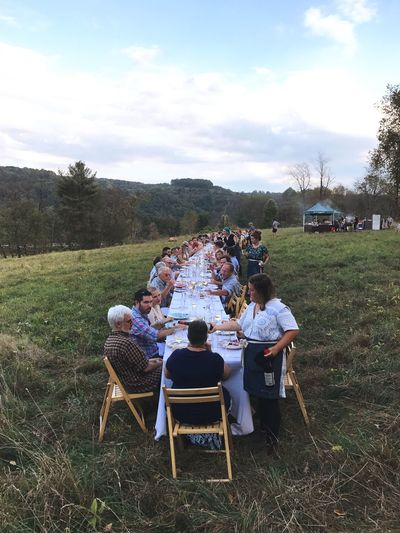 EyeEm Selects Large Group Of People Chair Table Togetherness Sitting Enjoyment Real People Day Leisure Activity Lifestyles Sky Men Senior Adult Outdoors Senior Men Tree Relaxation Women Friendship Grass Oitf Outstanding In The Field