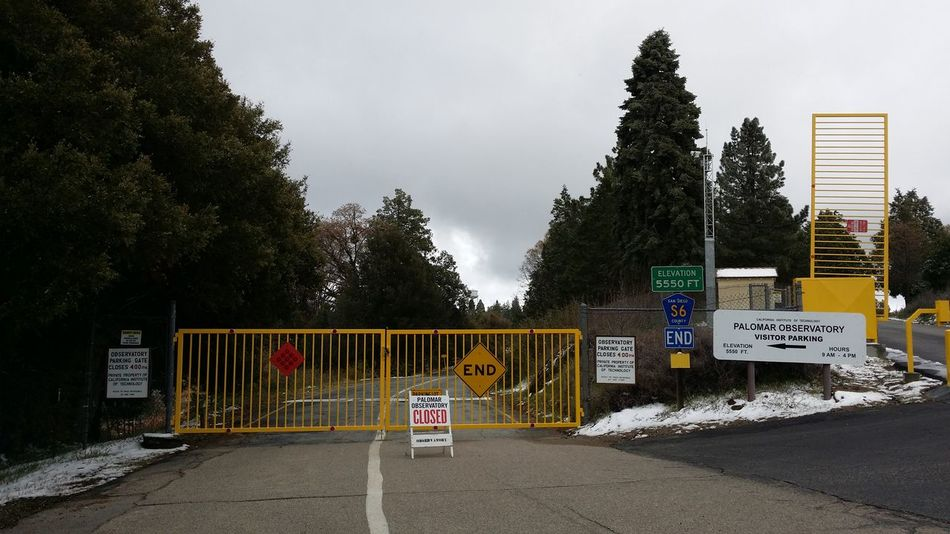the Closed Gates of Science @ mount Palomar Observatory