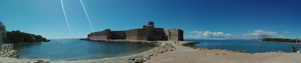 Le Castella Architecture Beach Ruins Of A Castle Le Castella Calabria (Italy) Huawei P8 Lite Calabriadascoprire Ruins Architecture No Edit/no Filter Scenics No Filter, No Edit, Just Photography Travel Destinations History Water Sand Sea Building Exterior Blue Outdoors Sky No People Panoramic Day Nature Italy 🇮🇹 Lost In The Landscape