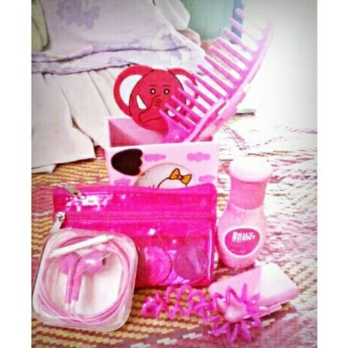 Some of my PinkStuffs SoGirly kahit na ang boyish ko talaga. Most of them are from @otepcate :* <3