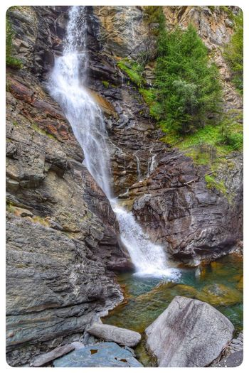 Italy Cascate Lilaz Water Beauty In Nature Scenics - Nature Motion Waterfall Rock Transfer Print