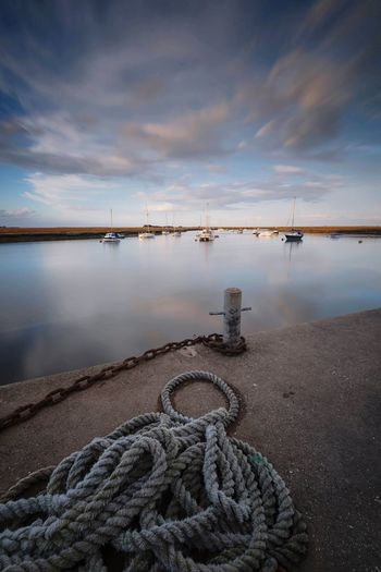 Rope & Chain Sea View Seascape Rope Harbour Blue Sky Landscape_photography Seaside Norfolk North Norfolk Wells-next-the-Sea Water Sky Cloud - Sky Scenics - Nature Nature Sea Reflection Fishing Industry Outdoors Tranquility