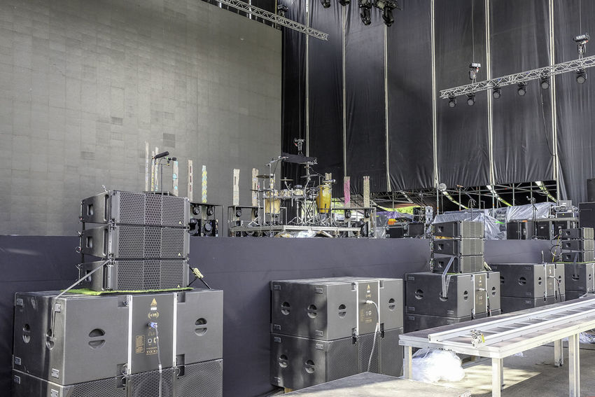 Cables Concert Concert Photography Day Development Drumkit Electronics  Empty Stage Festival Modern Music No People Speakers Stage Stage Lights
