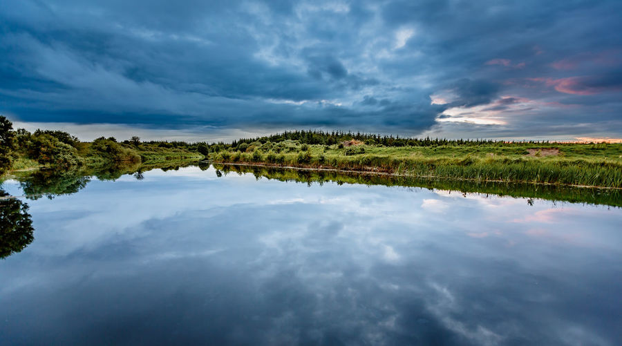 The Sky in a liquid Mirror. EyeEm Best Shots EyeEm Nature Lover EyeEmNewHere Beauty In Nature Beauty In Nature Cloud - Sky Clouds And Sky Day Dusk Eyem Best Shots Irland Lake Nature No People Outdoors Reflection Scenics Sky Sunset Tranquil Scene Tranquility Water Waterfront