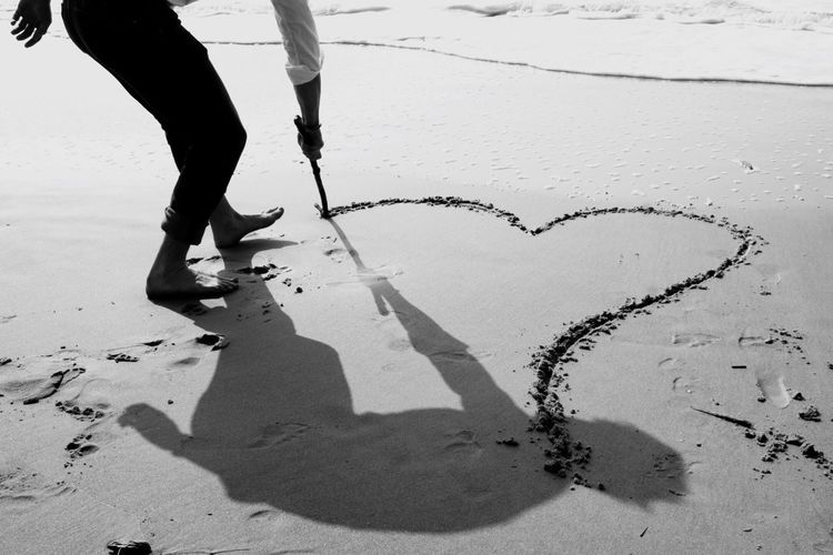 Things I Like Love Sandwriting Heart Heart In The Sand