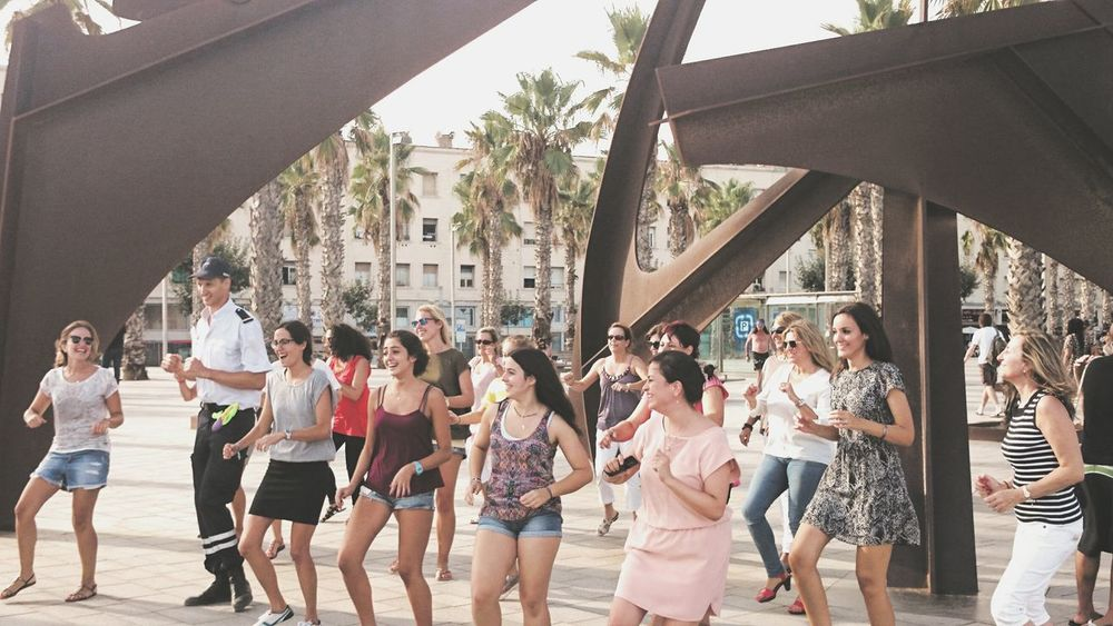 People having fun@Barcelona 2014 Dancing Having Fun Having A Good Time People Are People People Dancing Party Time SPAIN Barcelona Dance Photography The Love For Music Funtimes Funny Moments Just Smile  Just Chilling The Tourist Touristmode Outdoor Photography People Of EyeEm Barcelonacity Beachlife Urban Lifestyle Urbanphotography Live For The Story Catch The Moment Emotions