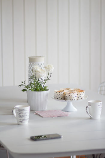 Food And Drink Table Food Cup Indoors  Drink Freshness No People Still Life Mug Refreshment Flower Plant Flowering Plant Ready-to-eat Potted Plant Kitchen Utensil Coffee Cup Day Eating Utensil Crockery Cinnamon Buns Fika On The Porch