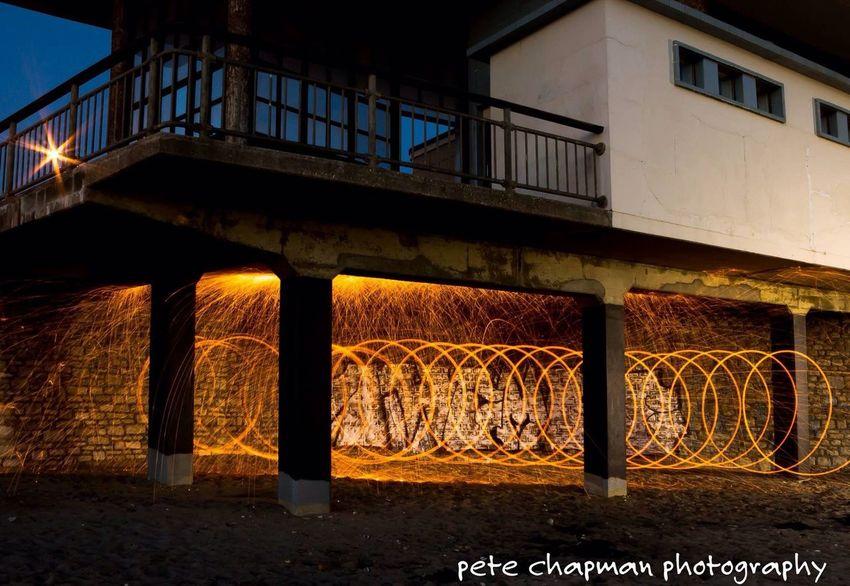 Steel Wool Spinning Boscombe Pier