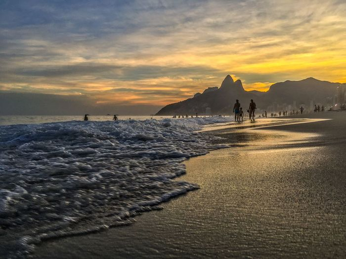 Ipanema Beach Rio de Janeiro Rio De Janeiro Rio De Janeiro Eyeem Fotos Collection⛵ Sky Sunset Land Beach Water Beauty In Nature Sea Nature Cloud - Sky Scenics - Nature Architecture Tranquility Tranquil Scene Sand Travel Destinations Idyllic No People Orange Color My Best Photo The Great Outdoors - 2019 EyeEm Awards