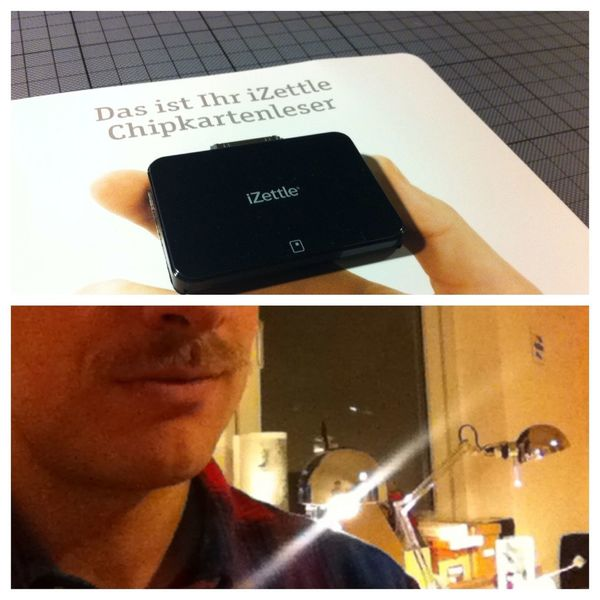 new ios ec card reader. it's #movember. what's next? #stpaulimos #izettle