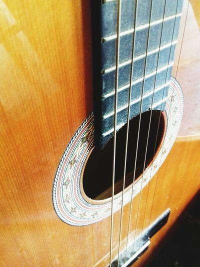 Classical Accoustic Guitar Guitar Musical Instrument String Music Musical Instrument Musical Equipment Arts Culture And Entertainment Fretboard Close-up Indoors  No People Accoustic Guitar Guitar Classical Instrument Classical Music Instrument