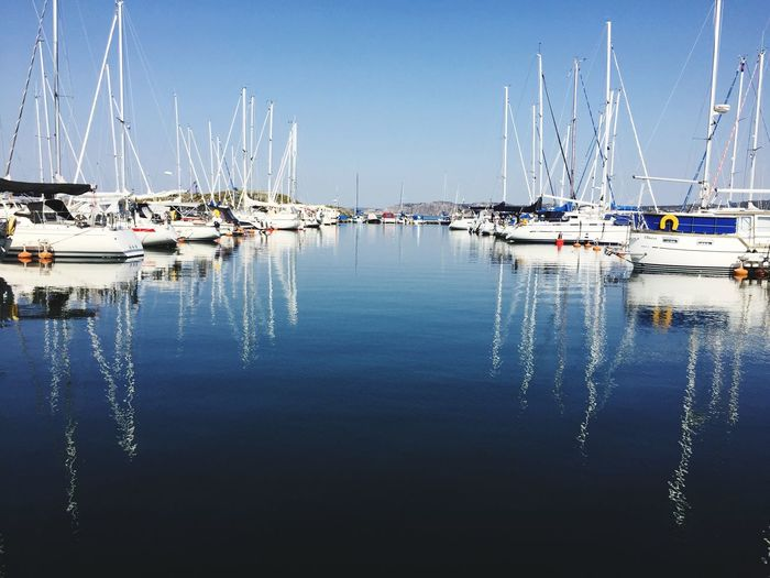 Sailboats Port Water Reflection Nautical Vessel Transportation Sky Sailboat Mode Of Transportation Sea Day Yacht Clear Sky No People