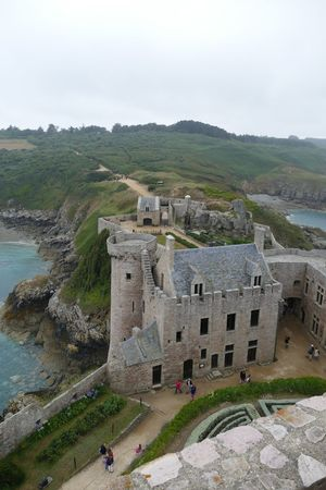 History Ancient Built Structure Castle Medieval Fort Travel Destinations Fortification Castle Fort La Latte Brittany France Military Fortress Governer's House High Angle View