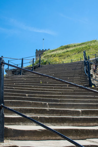 199 steps Whitby Yorkshire 199 Steps Whitby Whitby Yorkshire Architecture Attraction Built Structure Clear Sky Historic No People Railing Staircase Steps And Staircases Tourism