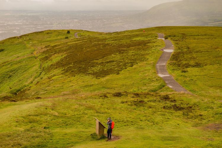 The Great Outdoors - 2017 EyeEm Awards Nature Landscape Scenics One Person Beauty In Nature Outdoors Grass Hiking Tranquility Real People Adventure Sky Day Northern Ireland Mountain