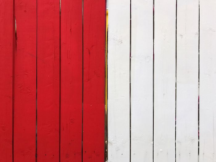 Fence Wooden Fence Wall Wooden Wall Red White Day Pattern Full Frame No People Outdoors Built Structure Backgrounds Red Architecture Textured  Close-up