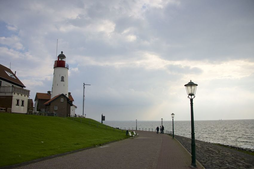 Dutch cycle route 'Oud en Nait Urk' in Flevoland. Lighthouse Netherlands Oud En Nait Urk The Netherlands Dutch Flevoland Holland Urk